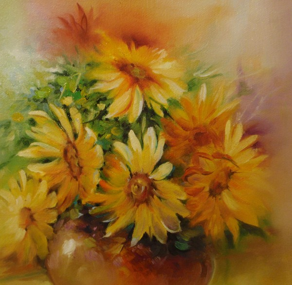 Picturi cu flori Floarea soarelui -2