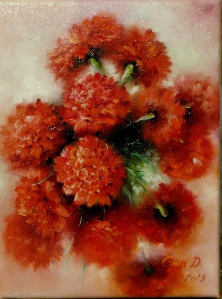 Picturi cu flori Garofite