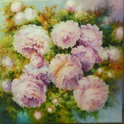 Picturi cu flori Silk flowers