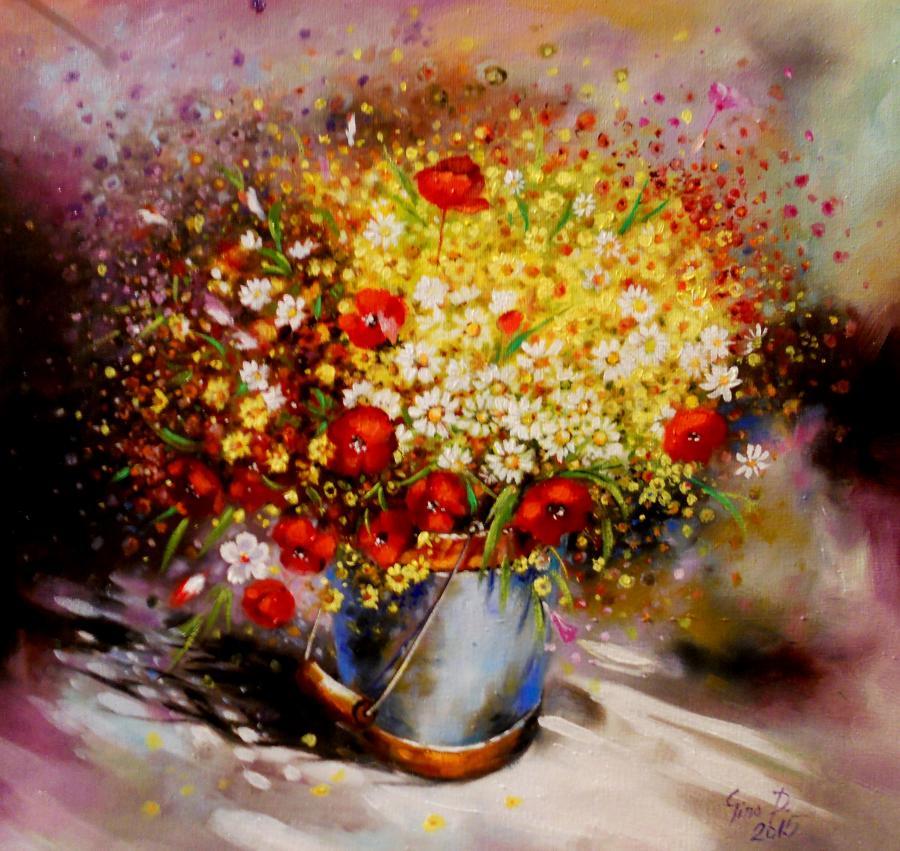 Picturi cu flori wild flowers 2015