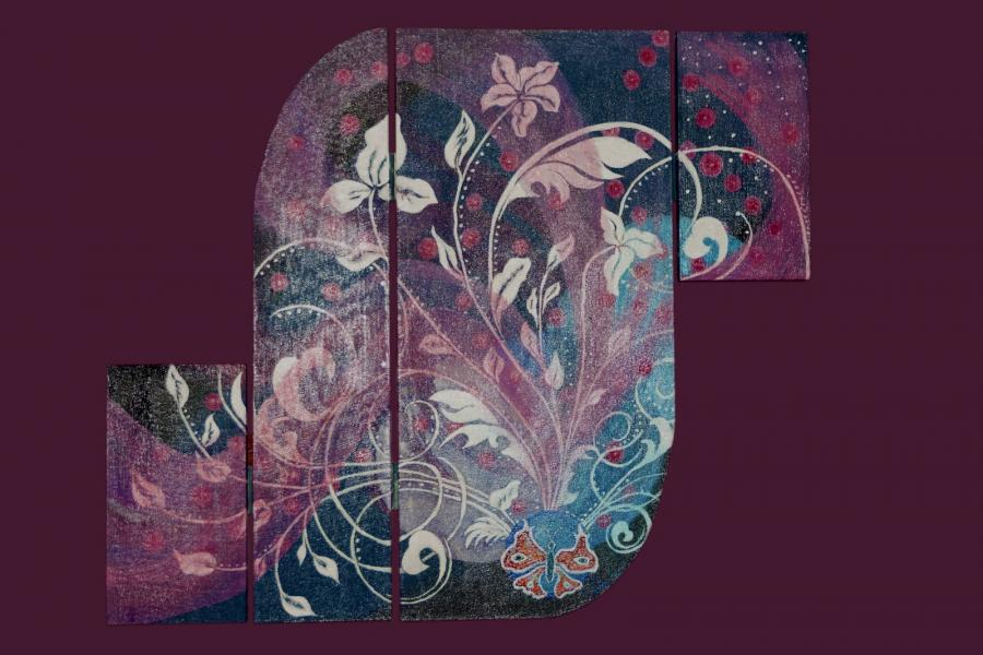 Picturi cu flori simbioza