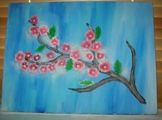 Picturi cu flori Creanga cu flori