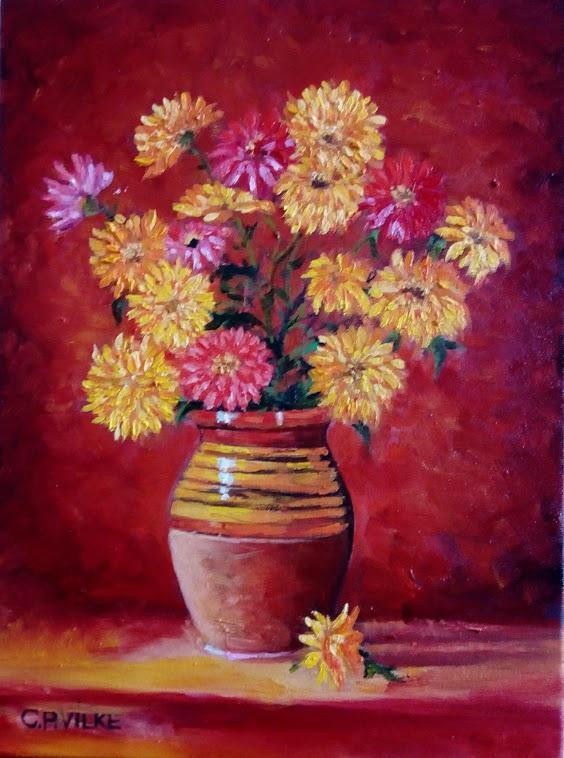 Picturi cu flori Flori de toamna.
