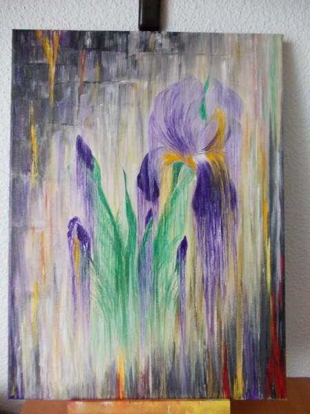Picturi cu flori Irisi melancolici
