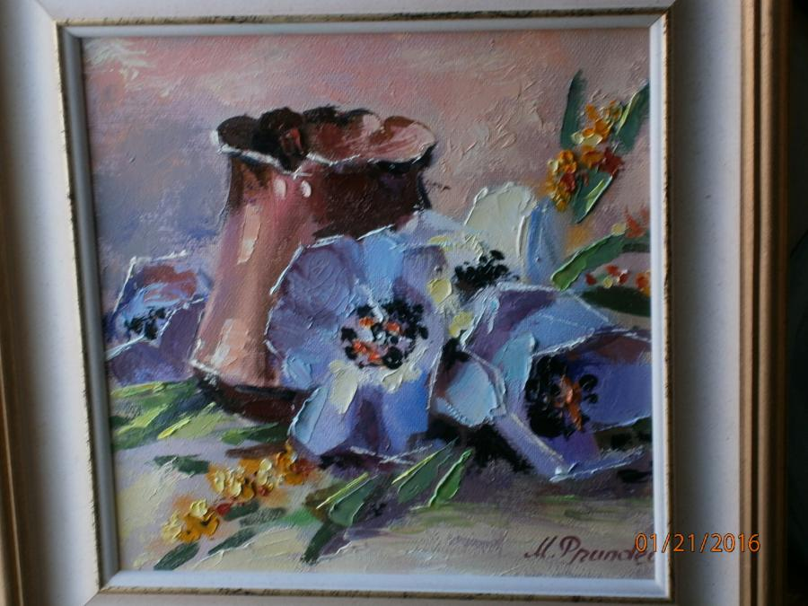 Picturi cu flori compozitie cu ibric