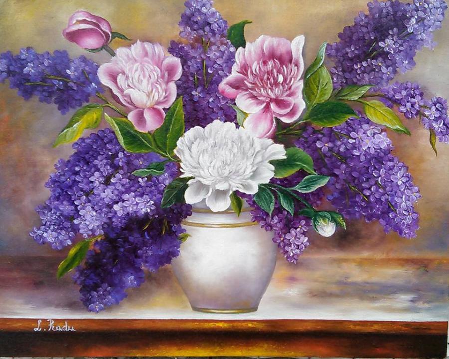 Picturi cu flori Armonie de culori