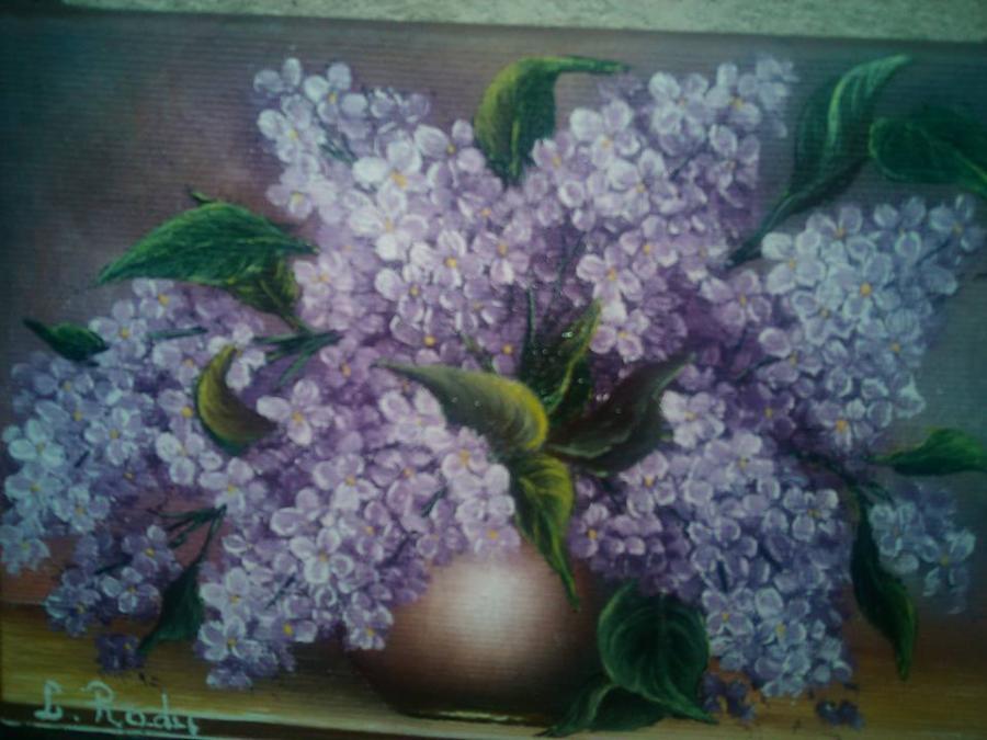 Picturi cu flori CRENGUTE DE LILIAC