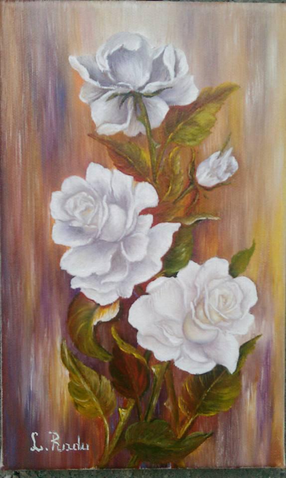 Picturi cu flori GINGASI TRANDAFIRI