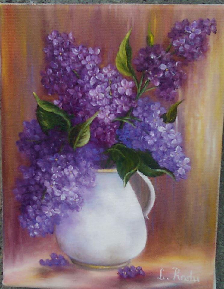 Picturi cu flori liiac inflorit