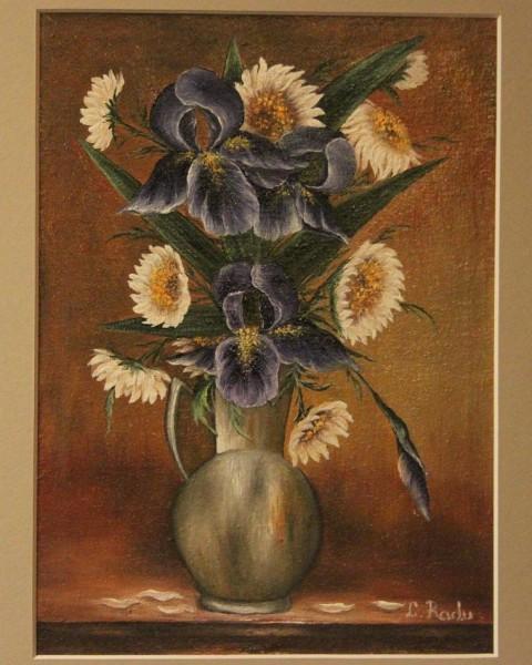 Picturi cu flori Margarete si iris