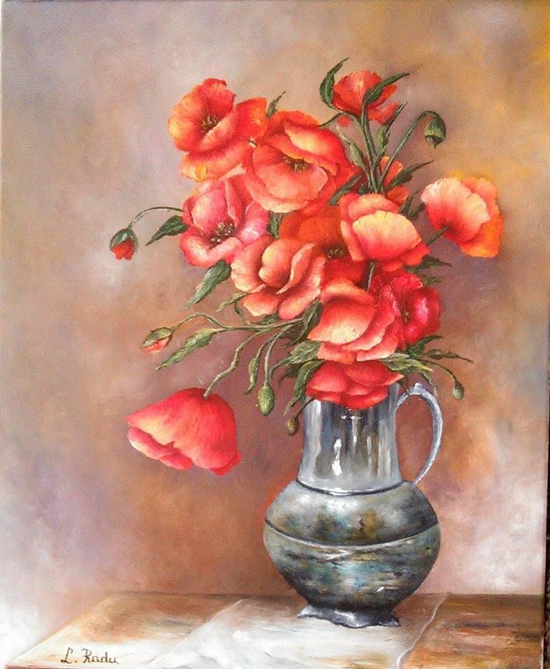Picturi cu flori Rosul verii