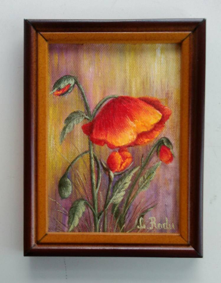 Picturi cu flori Singuraticul