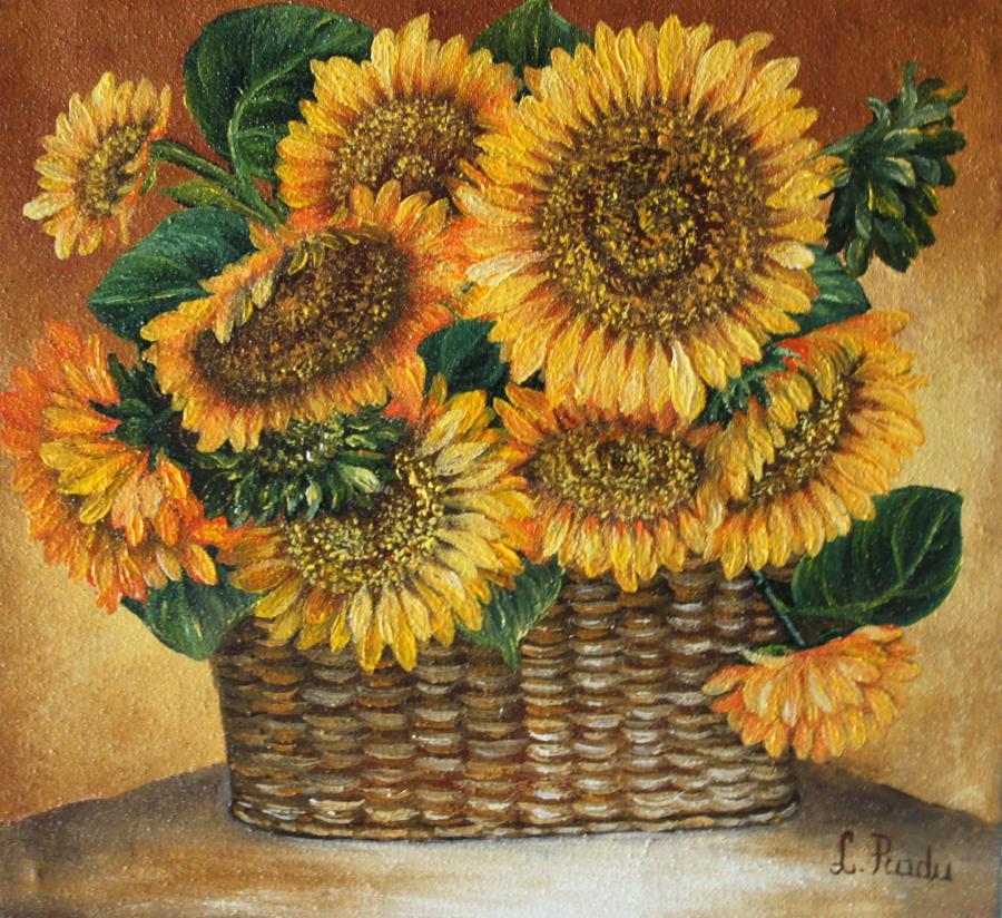 Picturi cu flori Sun-Flowers