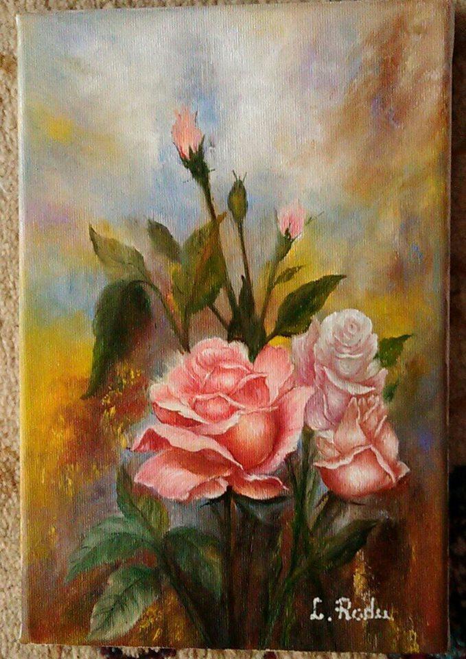 Picturi cu flori Trandafiri frezi