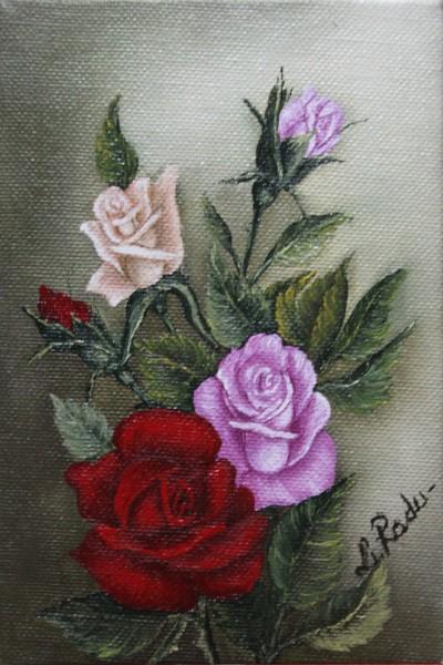 Picturi cu flori Trandafiri miniatura