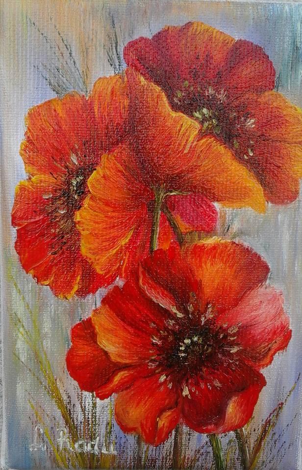 Picturi cu flori Trei frati