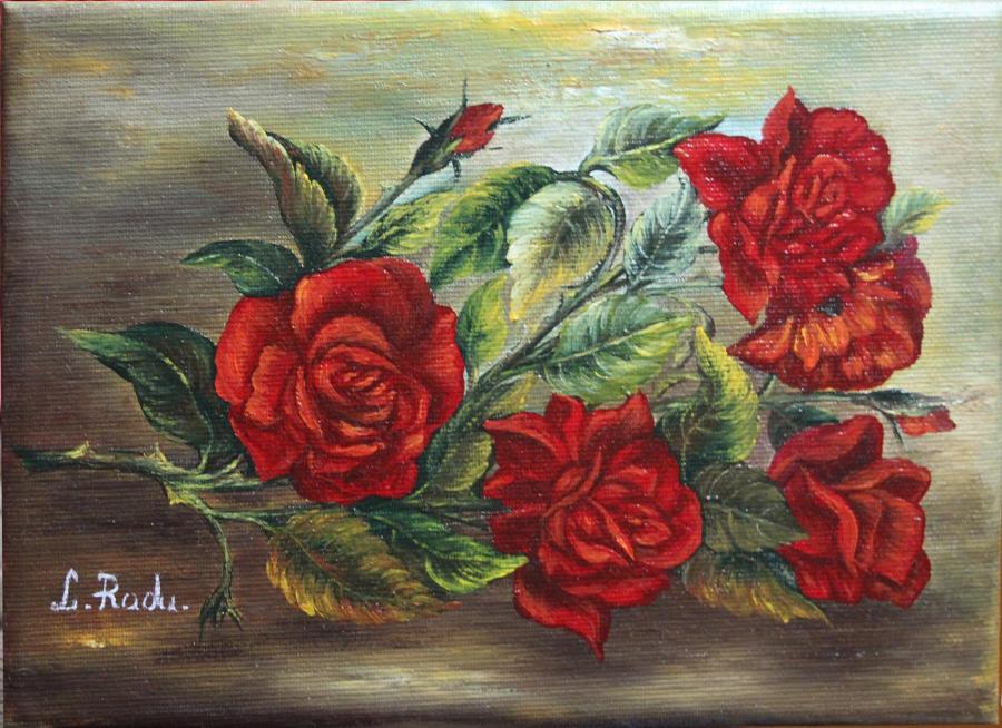 Picturi cu flori Un Trandafir cu Spini
