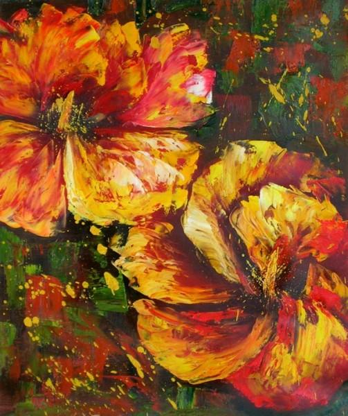 Picturi cu flori Petale