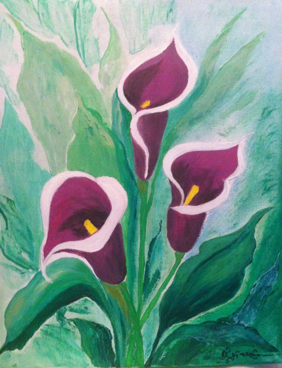 Picturi cu flori Cale in gradina