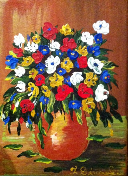 Picturi cu flori Flori de camp in vaza