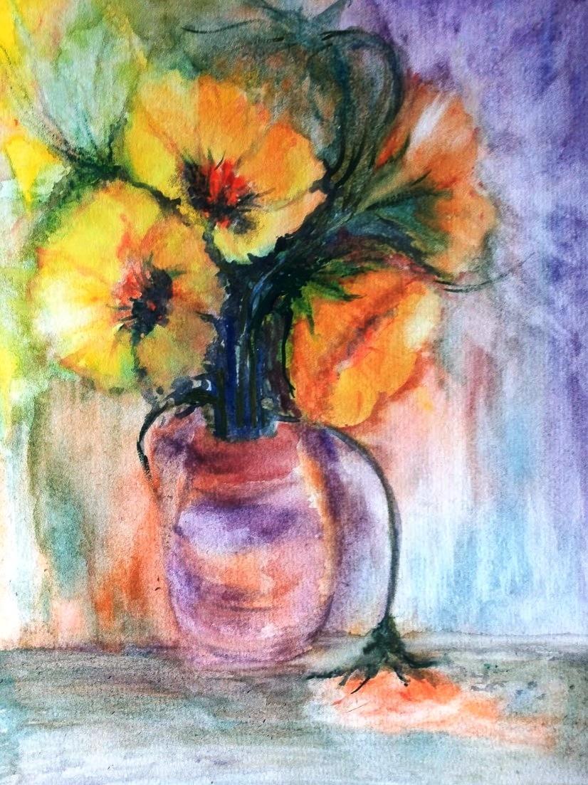 Picturi cu flori Flori de lumina 4