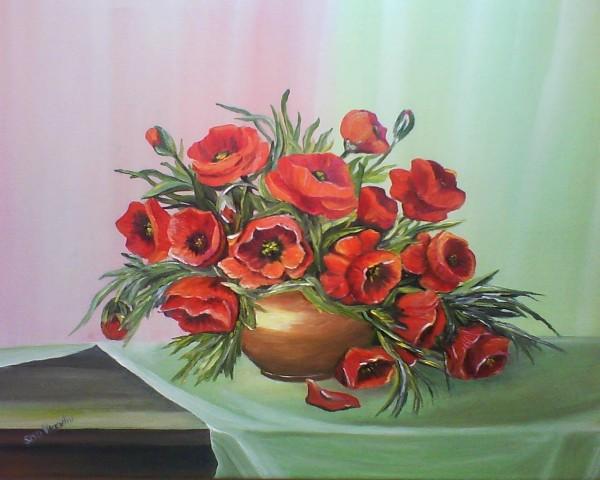 Picturi cu flori Maci