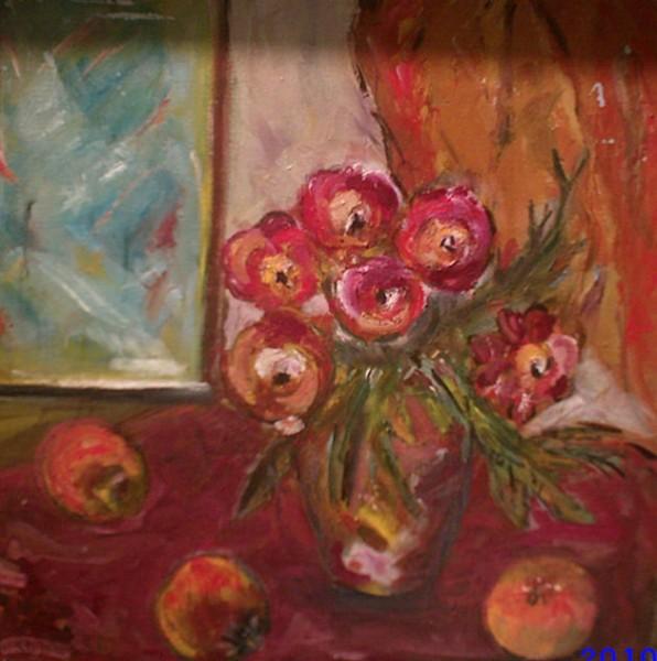 Picturi cu flori Natura statica cu mere
