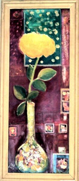 Picturi cu flori Trandafirul galben
