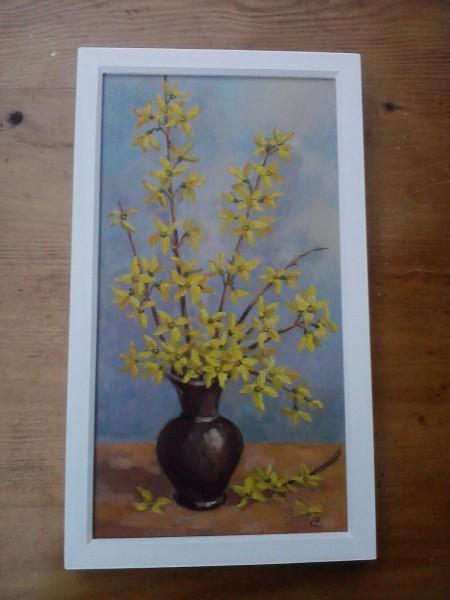 Picturi cu flori Forsythia