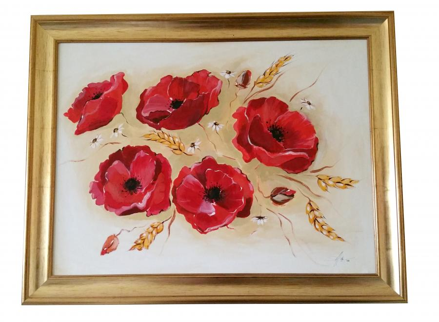 Picturi cu flori Tablou cu maci 1