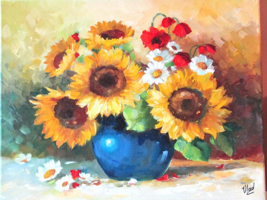 Picturi cu flori BUCHET DE VARA...