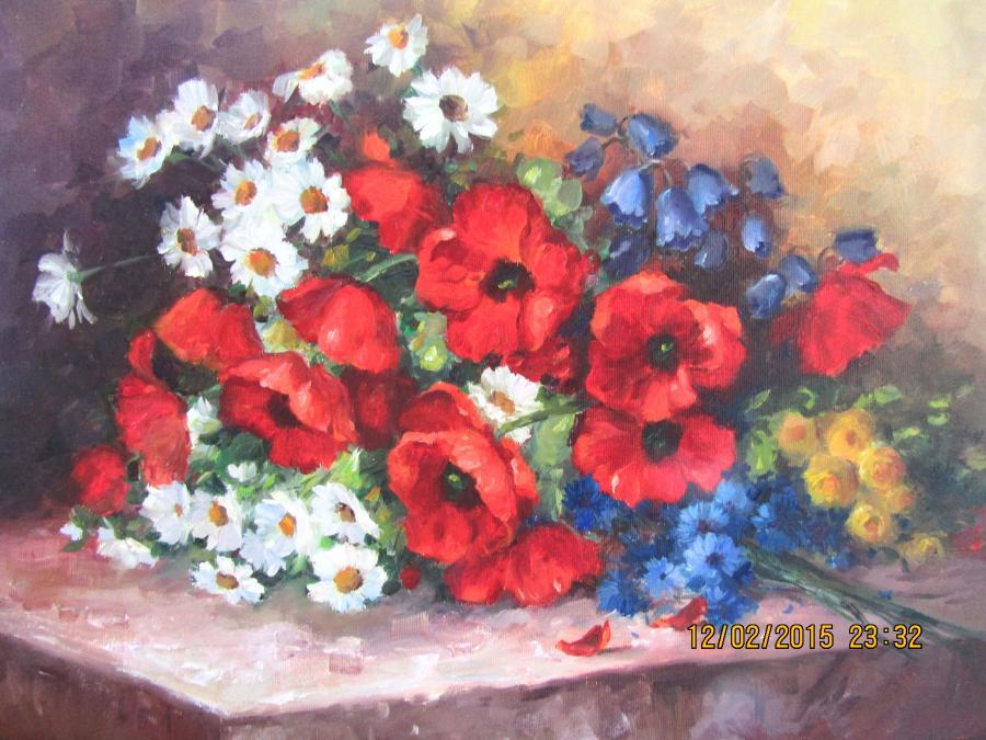 Picturi cu flori PARFUM DE VARA