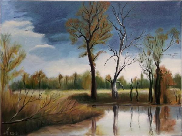 Picturi cu peisaje Inainte de ploaie