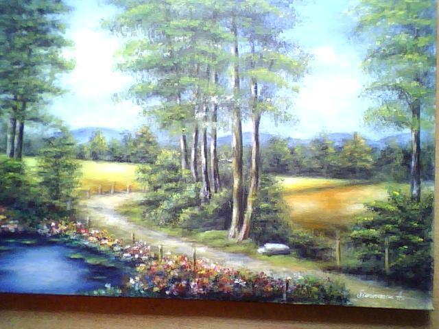 Picturi cu peisaje vara in poienita