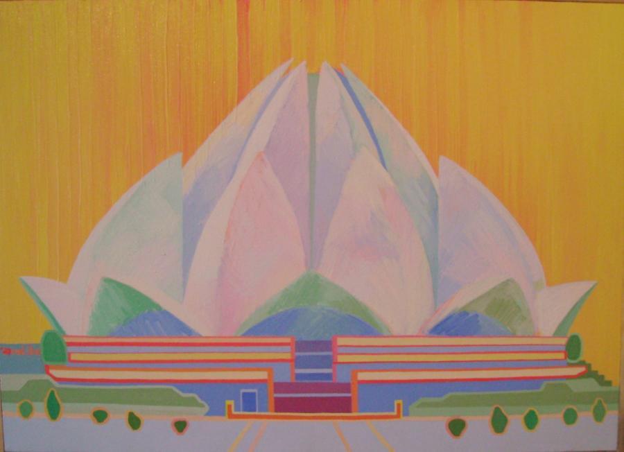 Picturi cu peisaje templul Lotus