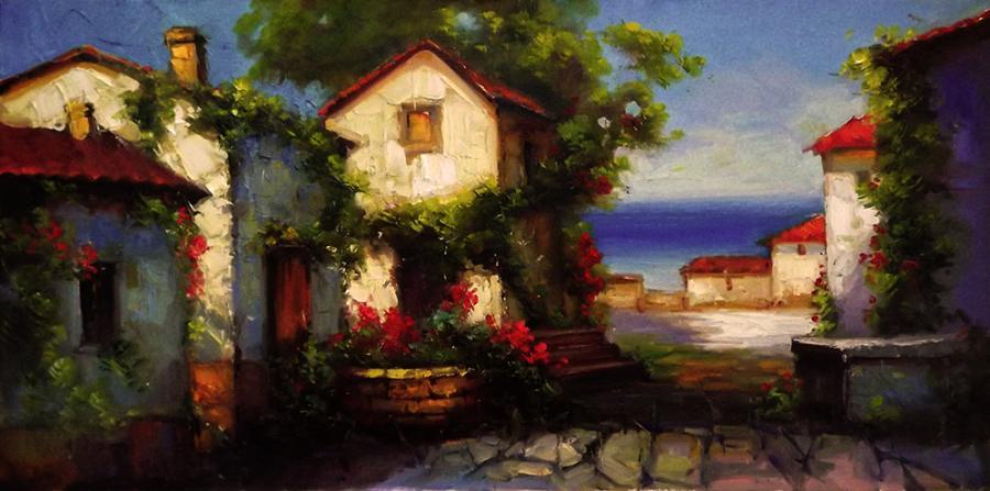 Picturi cu peisaje mediteraneana 1