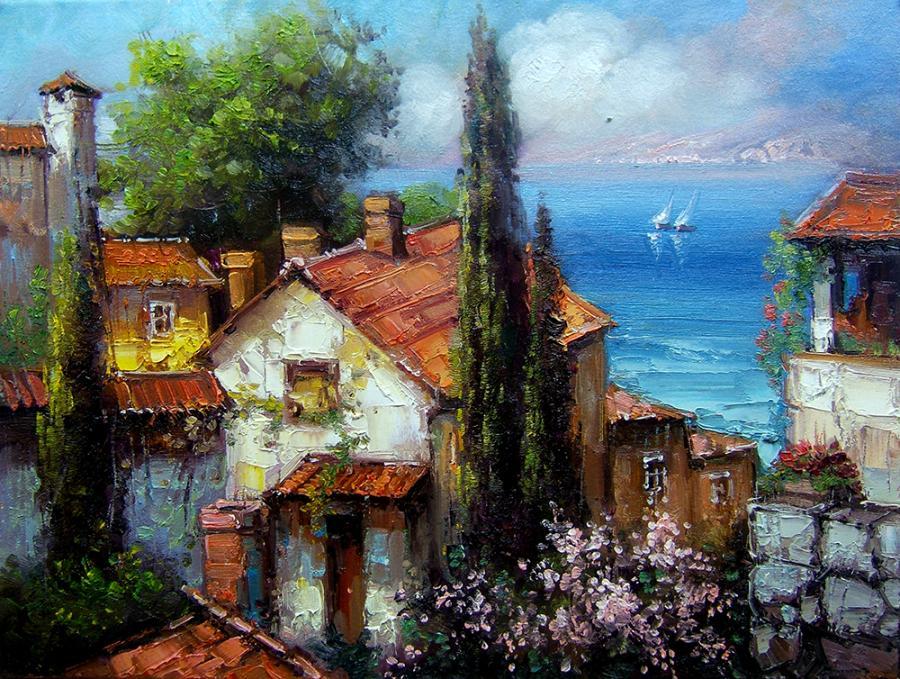 Picturi cu peisaje mediteraneana 3