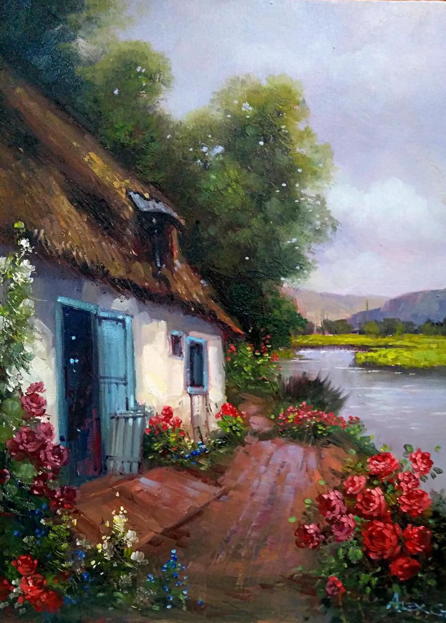 Picturi cu peisaje refugiu 1