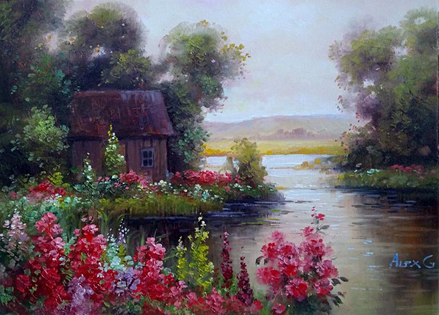 Picturi cu peisaje refugiu 3