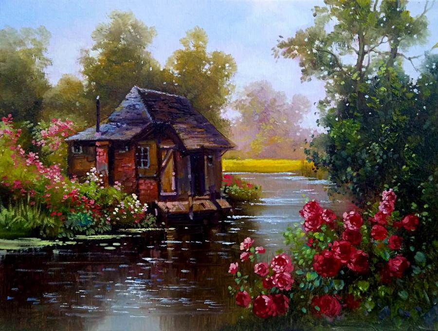 Picturi cu peisaje refugiu 5
