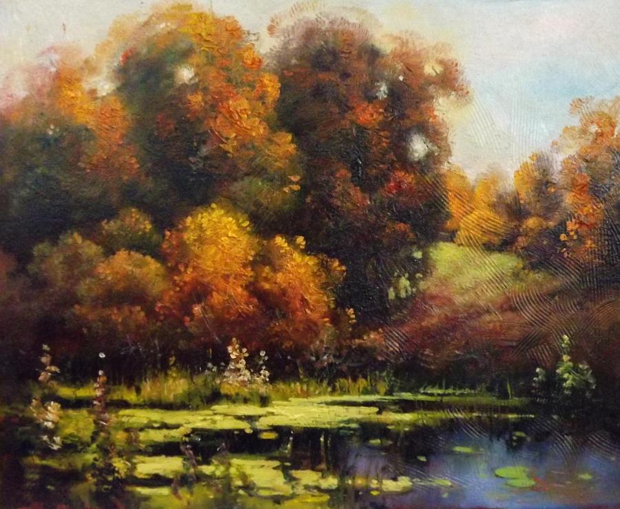 Picturi cu peisaje zi de toamna in delta
