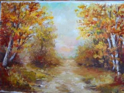 Picturi cu peisaje Tacerea frunzelor