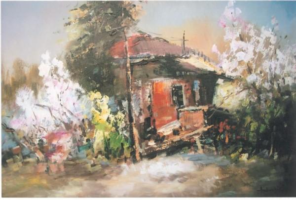 Picturi cu peisaje Bucuria primaverii