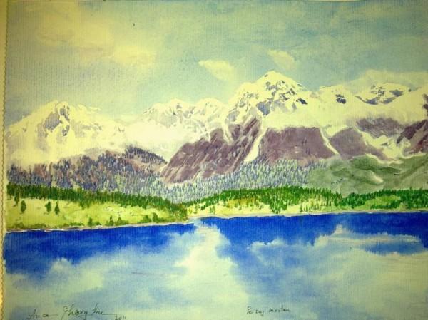 Picturi cu peisaje Munti