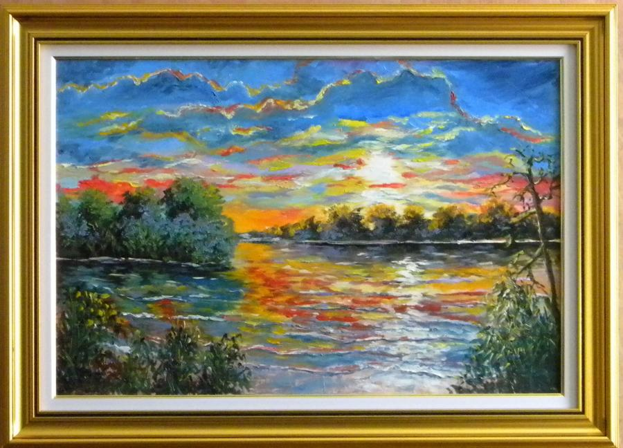 Picturi cu peisaje Asfintit in delta