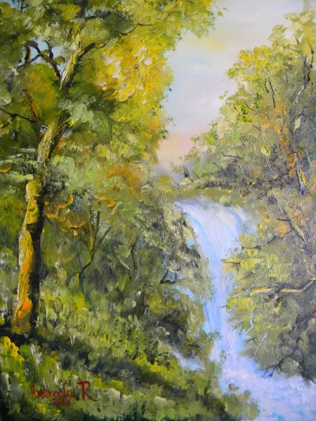 Picturi cu peisaje Cascada din padure