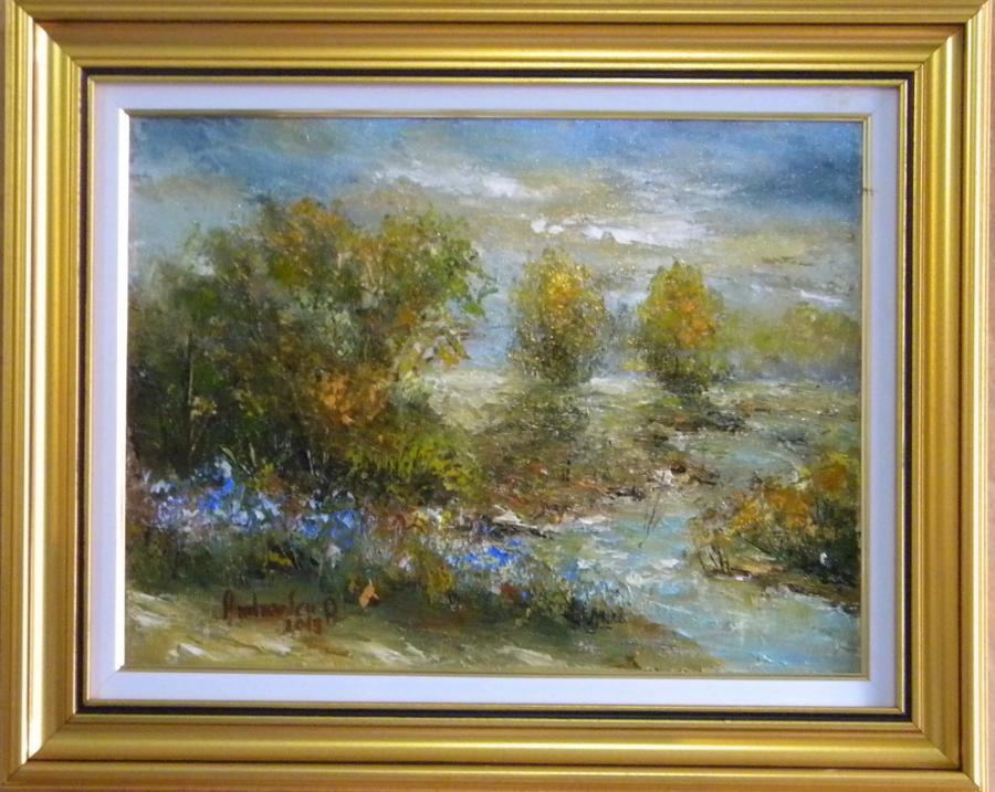 Picturi cu peisaje Mal de rau
