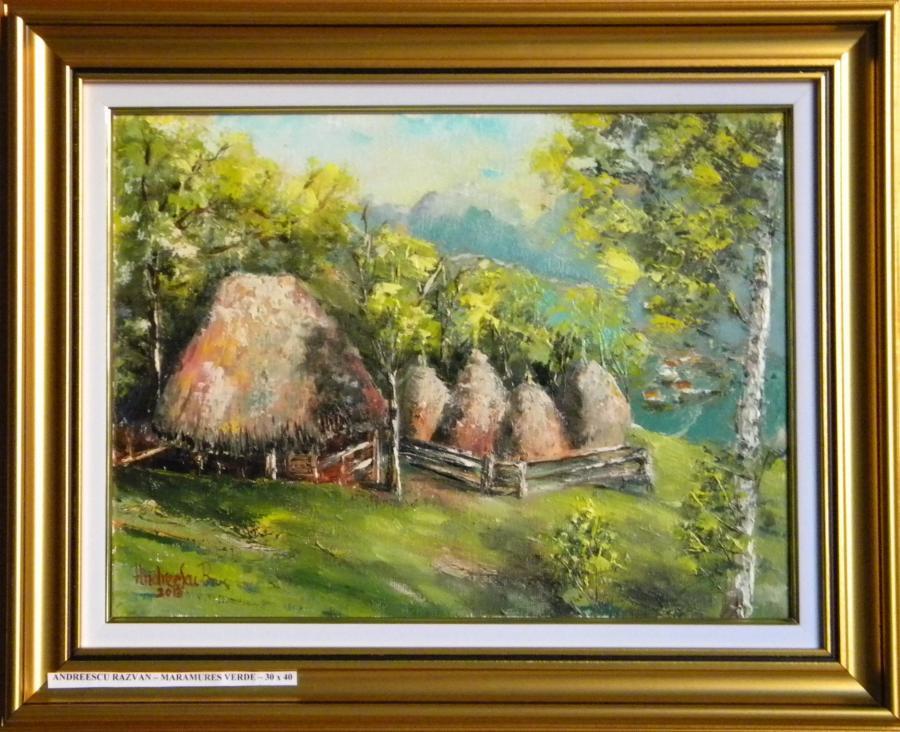Picturi cu peisaje MARAMURES VERDE