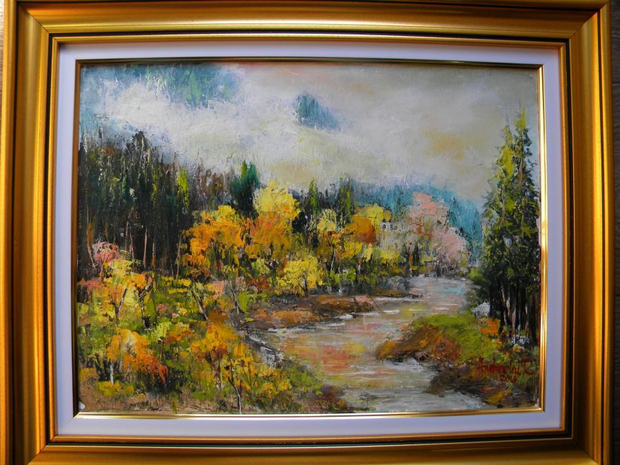 Picturi cu peisaje MUNTE IN CEATA