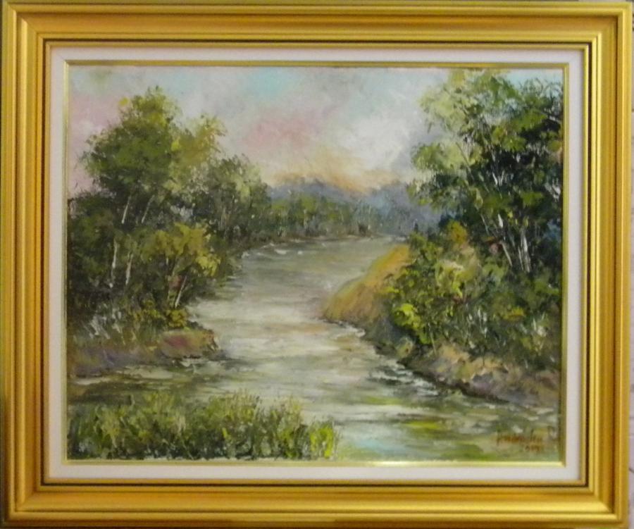 Picturi cu peisaje PEISAJ CU RAU 2